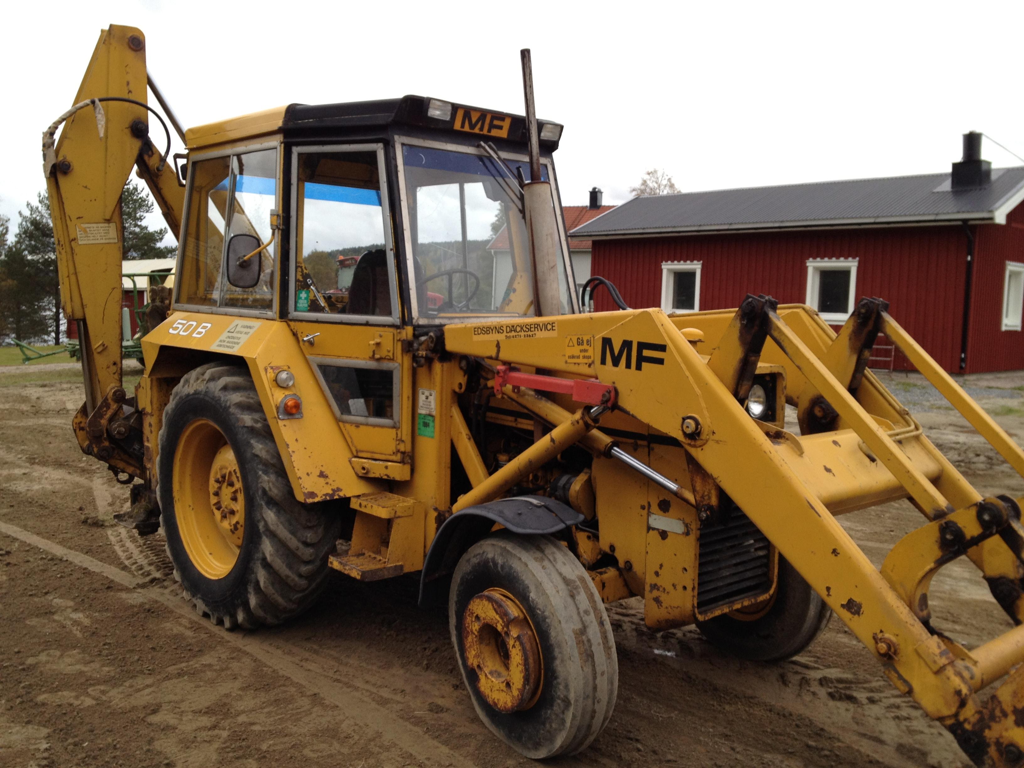 Massey Ferguson Mf 50 : Kjellsson nu natur utveckling traktorgrävare mf b